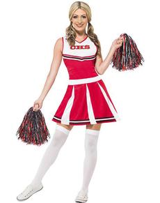 Cheerleaderin Kostüm für Damen Universität