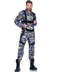 Fallschirmjäger Kostüm für Herren Übergröße