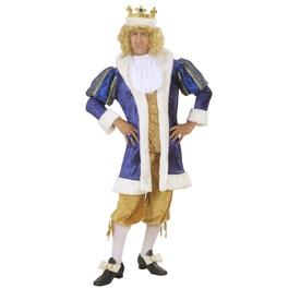 Prächtiges König Kostüm in großer Größe für Herren
