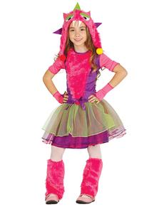 Mehrfarbiges Monster Kostüm für Mädchen