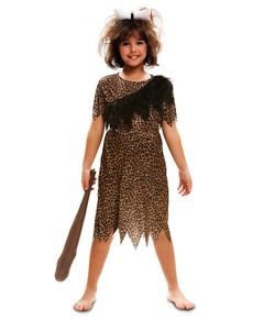 Höhlenmensch Kostüm für Mädchen