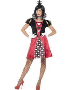 Kartenspiel Königin Kostüm für Damen