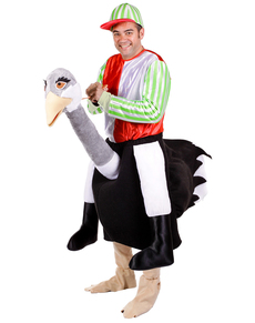 Kostüm Vogelstrauß mit Jockey